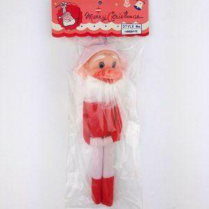 Vintage Christmas Felt Santa Elf Ornament